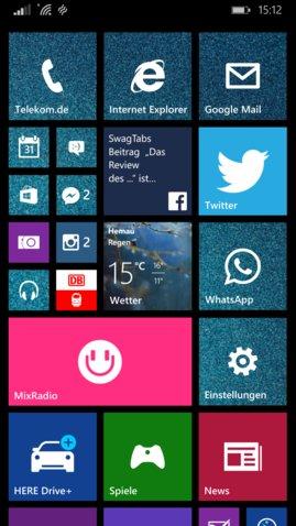 Lumia 930 Homescreen