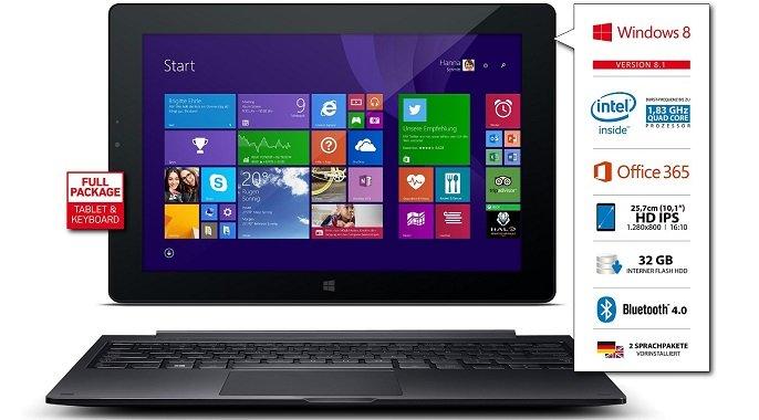 Odys Windesk X10 Windows 8.1 Transformer für 208,50€ vorbestellen