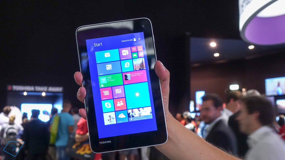 Windows 10 mit Unterstützung für 1024 x 600 Pixel Tablets