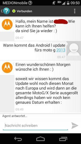 motorola android l update sd
