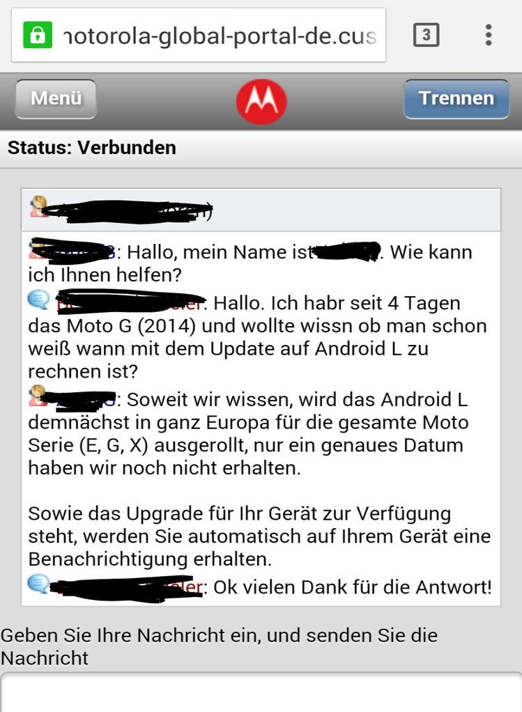 motorola android l updates
