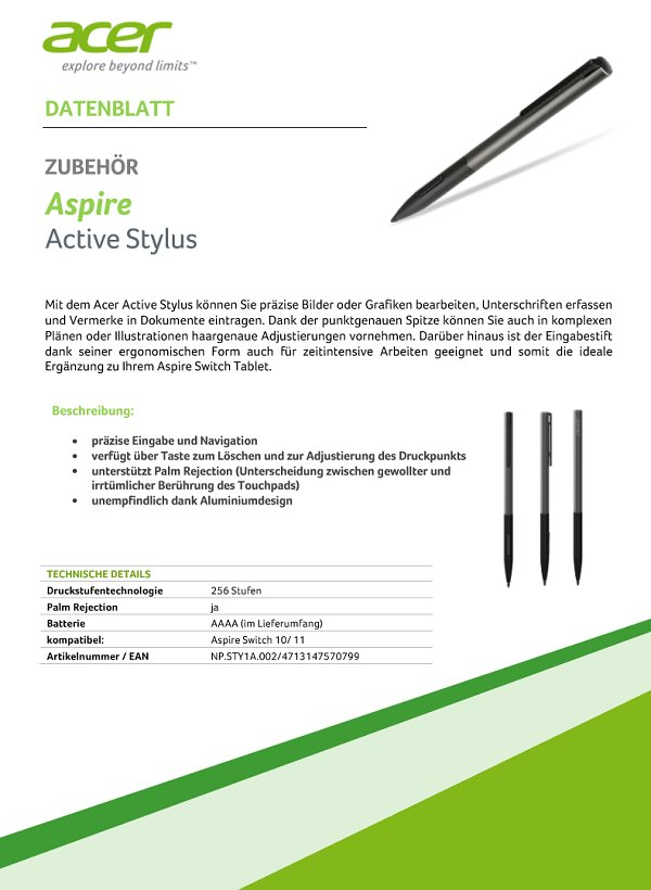 Acer Aspire Active Stylus