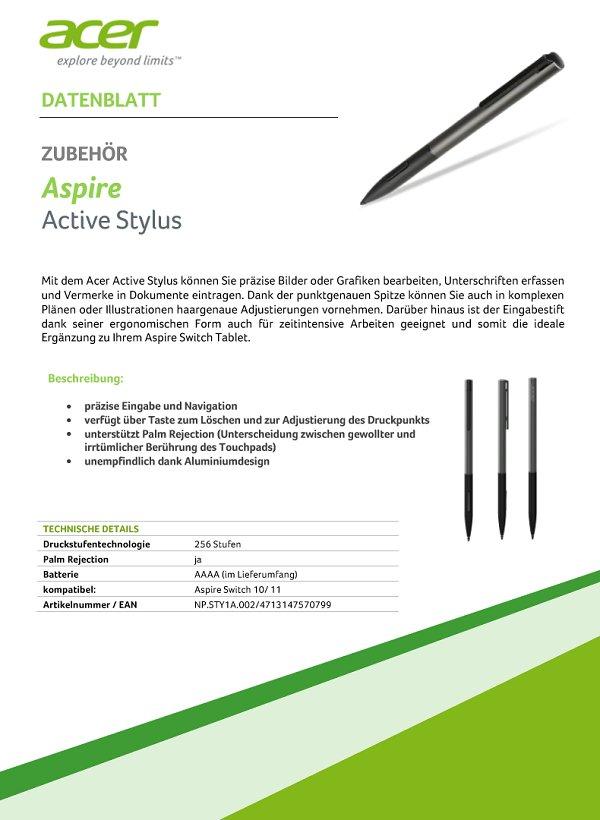 Acer Aspire Active Stylus