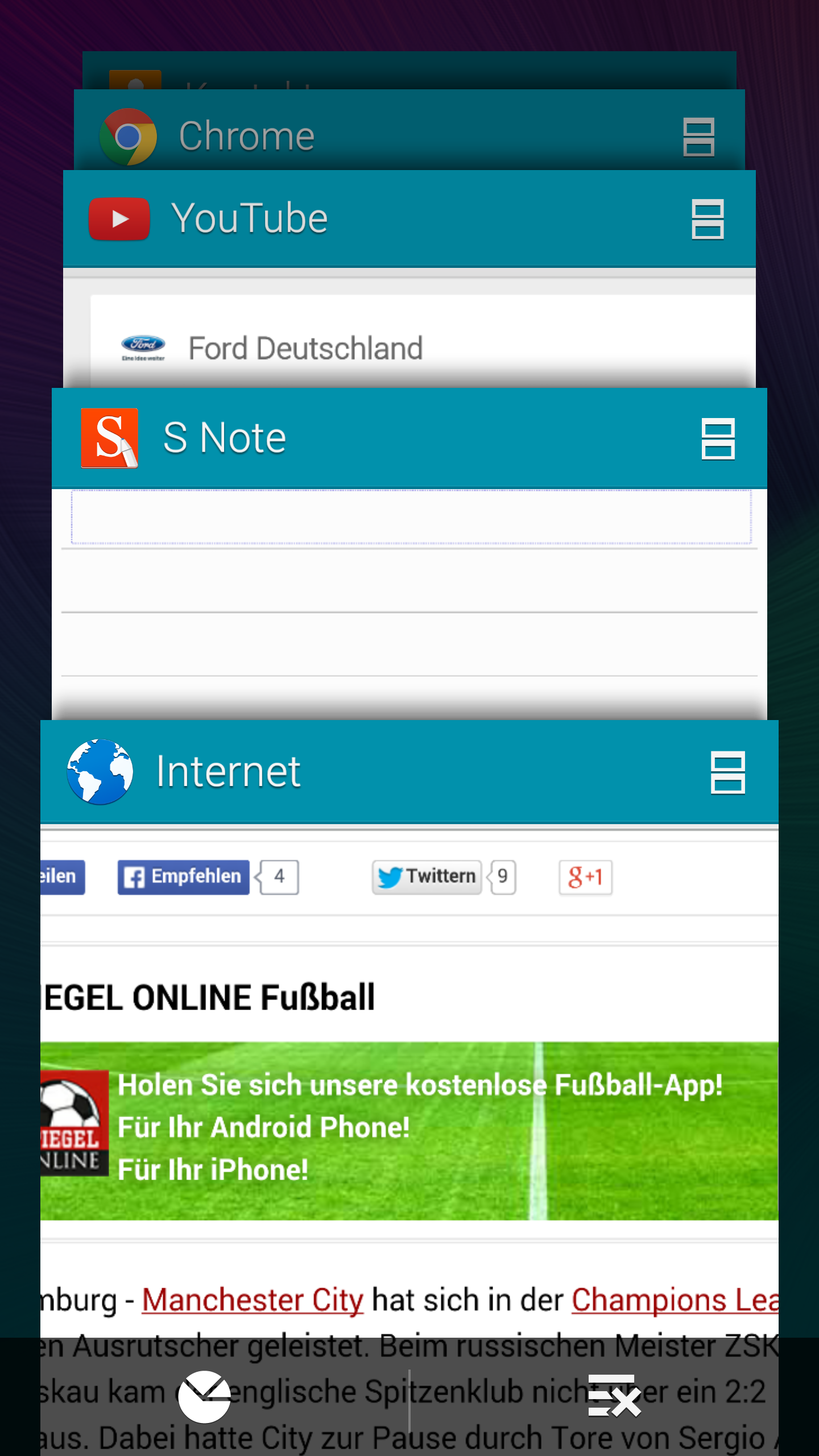 Note 4 Multitasking
