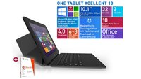 ONE Xcellent 10 Windows 8.1 Tablet mit Tastatur für 177€ (Video)