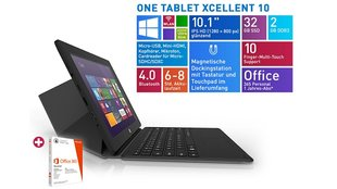 ONE Xcellent 10 Tablet mit Windows 8.1 & Tastatur für 169€