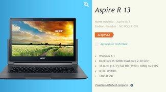 Acer Aspire R13 mit Intel Core i5-5200U Broadwell CPU aufgetaucht