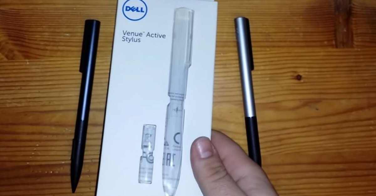 dell active stylus how to use