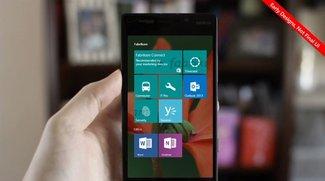 Windows Phone 10: Vorschau auf die neue Startseite (Video)