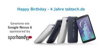 Happy Birthday: 4 Jahre tabtech.de - Gewinne ein Nexus 6
