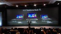 Asus Transformer Book T90 Chi, T100 Chi & T300 Chi vorgestellt (CES 2015)