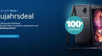 Neujahrsdeal: 100€ Cashback beim Kauf des Galaxy Note 4