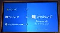 Windows 10: Kostenloses Upgrade für Windows 7 & Windows 8.1