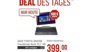 Deal: Asus Transformer Book T100 mit 64 GB &amp&#x3B; LTE für 399€ (Video)