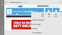 Windows 10 Spartan Browser für Smartphones auf ersten Screenshots