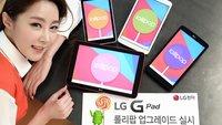 LG G Pad 8.3 und G Pad 7.0, 8.0 & 10.1 Android 5.0 Updates angekündigt