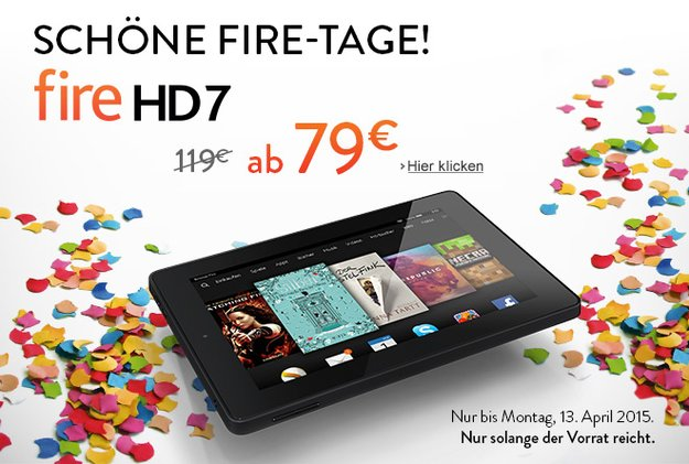 Deal: Amazon Fire HD 7 Tablet mit 40€ Rabatt für nur 79€