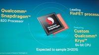 Snapdragon 820 (MSM8996) 14-nm-FinFET-CPU Spezifikationen geleakt?