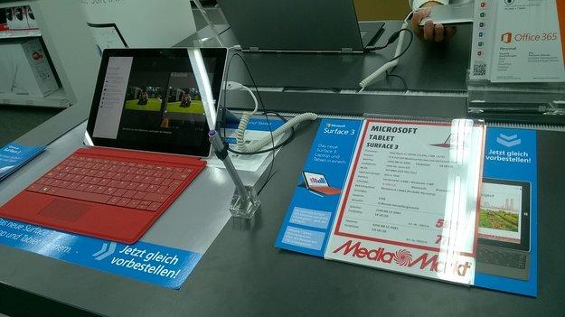 Surface 3 ab sofort deutschlandweit in 73 Läden ausprobieren