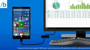 Windows 10 Continuum: Das Smartphone wird zum PC (Video)