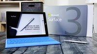 Surface 3: Windows 10 Preview sollte nicht installiert werden