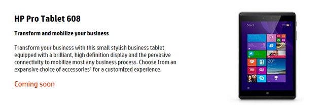 HP Pro Tablet 608, HP Elite x2 1012 und HP x2 210 Tablets aufgetaucht
