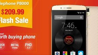 Elephone P8000 Flash Sale gestartet - 10 ELE Codes mit 40$ Rabatt zu vergeben