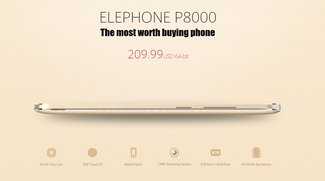 Elephone P8000 Produktseite geht online - Flash Sale ab dem 15. Juni (Video)