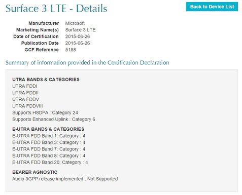 surface 3 lte global-certification-forum