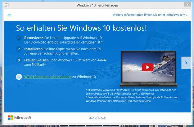 Microsoft verrät Windows 10 Preis durch Upgrade-Reservierung