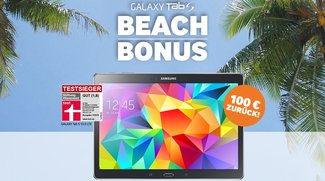 Samsung Galaxy Tab S 10.5 Beach Bonus mit 100€ Cashback (Video)