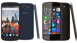 Archos 50e Helium &amp&#x3B; 50 Cesium: Android- und Windows 10 Mobile-Device im Hands-On Video