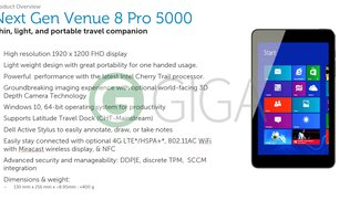 Dell Venue 8 Pro (5855) mit FHD-Display, Atom x5, Digitizer &amp&#x3B; Windows 10 in Vorbereitung