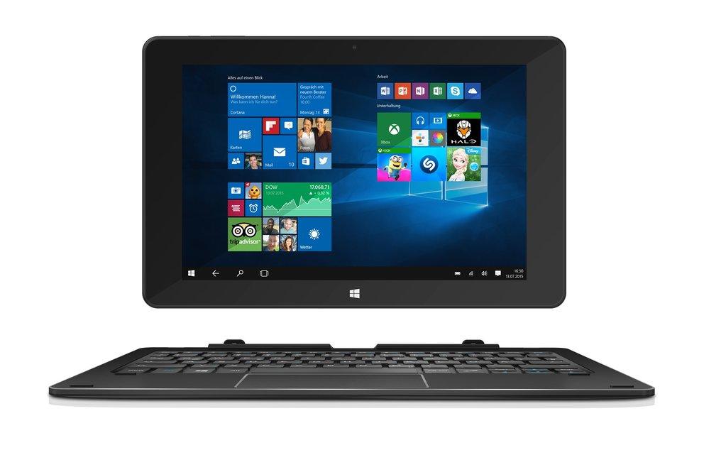 TrekStor SurfTab duo W1: 10,1 Zoll Windows 10 Tablet mit LTE, Stylus &amp&#x3B; Tastatur-Dock