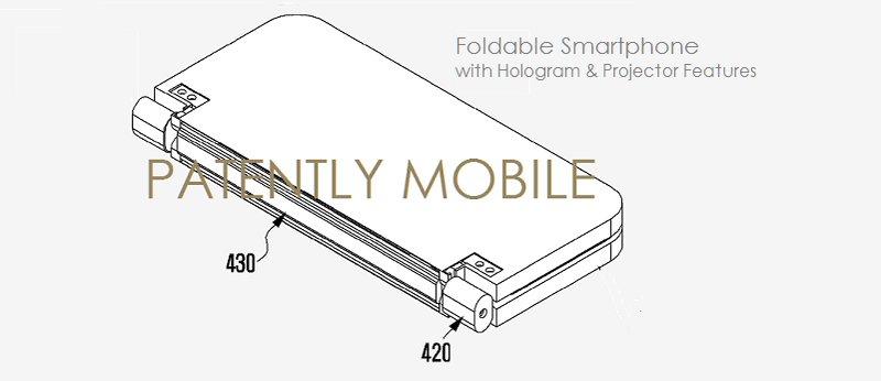 Samsung Patent faltbares Smartphone Hologramm