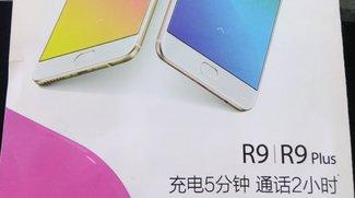 Oppo R9 und R9 Plus: Technische Daten und Design durch Prospekt bestätigt