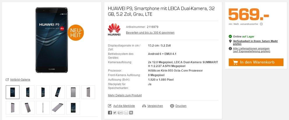 Huawei P9 saturn