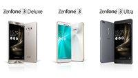 Asus ZenFone 3, Deluxe und Ultra offiziell vorgestellt