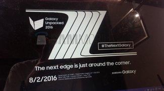 Galaxy Note 7 (edge): Samsung-Teaser zum Unpacked-Event am 2. August geleakt