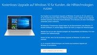 Windows 10: Upgrade auch weiterhin kostenlos beziehen