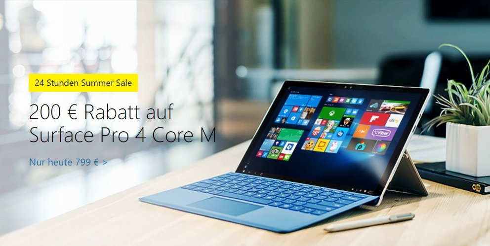 summer sale bei microsoft surface pro 4 lumia 950 und mehr reduziert giga. Black Bedroom Furniture Sets. Home Design Ideas