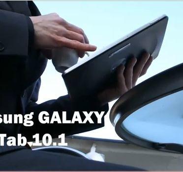 Samsung Galaxy Tab 10.1 im Video: Oh lálá, très chic!