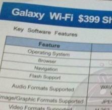 Samsung Galaxy Tab kommt als WLAN-Version für 399 Dollar
