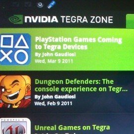 PlayStation Suite kommt Ende 2011 für Tegra 2-Geräte