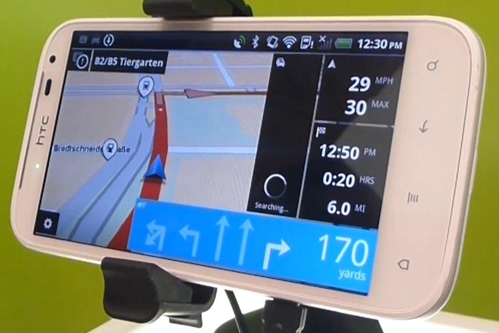 tomtom navi app f r android im hands on. Black Bedroom Furniture Sets. Home Design Ideas