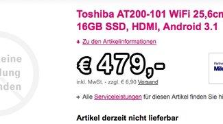 Toshiba AT200: schlankes Tablet – schlanker Preis