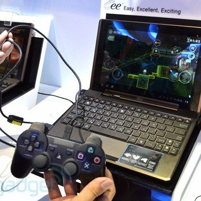 PS3-Gamepad an Asus Eee Pad Transformer [Video]