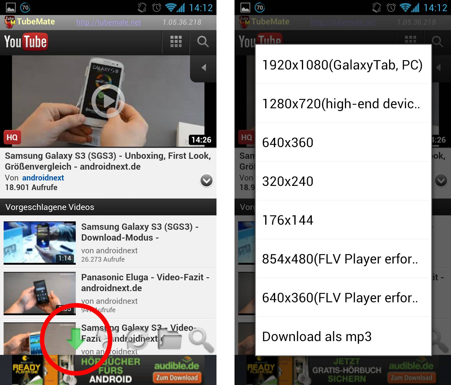 Tubemate youtube videos downloaden per android app giga tubemate video download ccuart Gallery