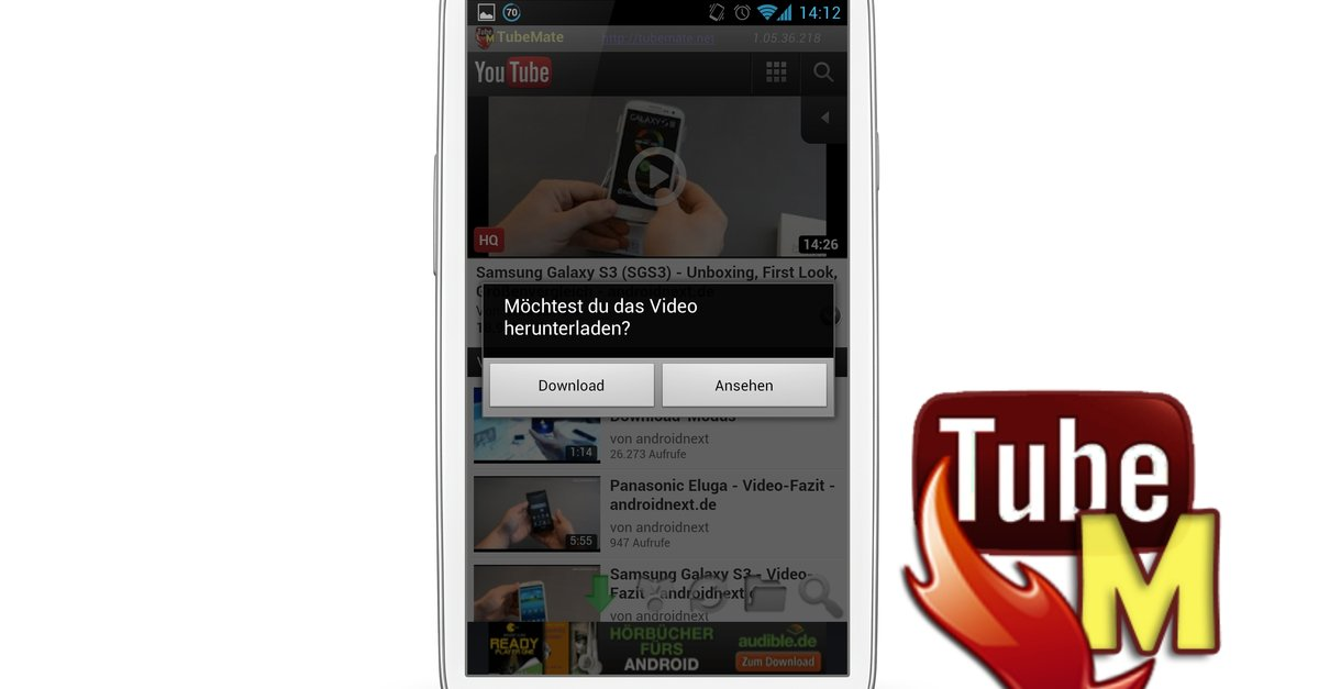 TubeMate: YouTube-Videos downloaden per Android-App