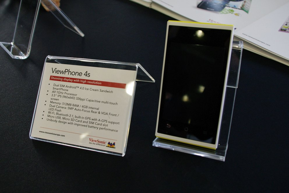 ViewSonic: ViewPhone 4S, ViewPad G70 &amp&#x3B; E100 im Hands-On [MWC 2012]